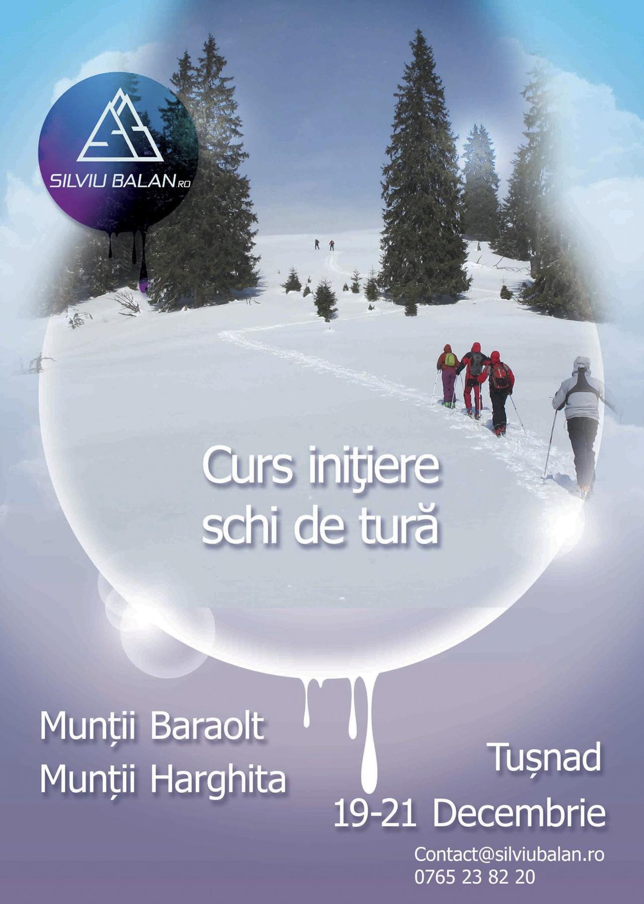 <ul><li>Curs Inițiere Schi de Tură Tușnad</li></ul>